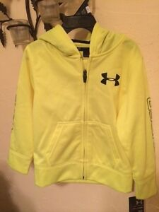 NWT UNDER ARMOUR Boys Storm Mag Zip-Front Hoodie Size 4T Hi Vis Yellow 27444059