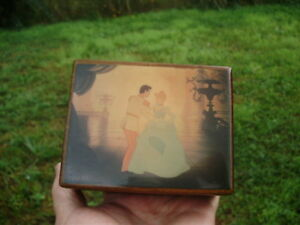 DISNEY CINDERELLA Music Box So This is Love REUGE Swiss Musical Movement 1948