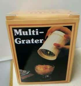 Multi-Grater Stainless Steel Blade Food Grater Cheese Spices Grind-BRAND NEW!!