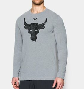 Under Armour The Rock Project Brahma Bull All Sizes Long Sleeve T-Shirt 1304590