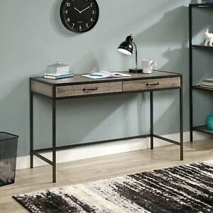 Rustic Industrial Writing Computer Desk Drawers Table Grey Oak Home Office Study