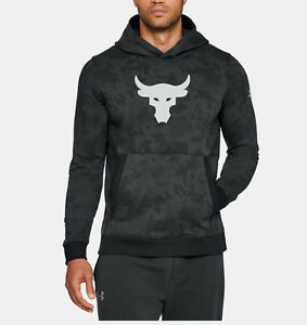 Under Armour The Rock Threadborne Fleece All Sizes Hoodie Style 1313218-001 Gray