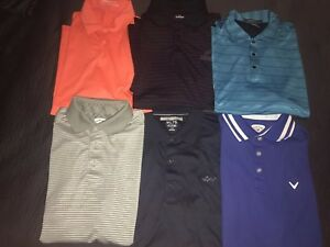 Lot Of 20 Men's Golf Polos Nike Callaway Under Armour Greg Norman Puma Adidas L
