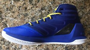 UNDER ARMOUR UA STEPH CURRY 3 MEN'S BASKETBALL BLUEYELLOW SNEAKERS SHOE 1269279