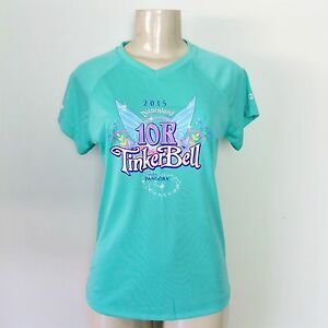 NEW NEVER WORN RUNDISNEY 2015 Disneyland Tinker Bell 10K Women's Race Shirt S