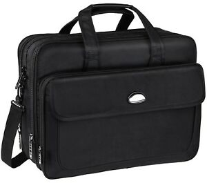 17 inch Laptop Bag Travel Briefcase with Organizer Expandable Large Hybrid