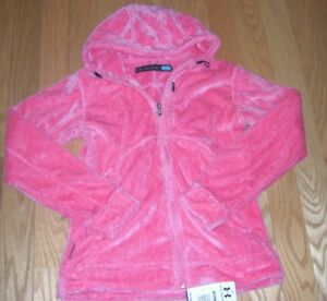 OMG~LAST ONE~WOMENS~BNWT~UNDER ARMOUR~COLD GEAR~PINK~PLUSH~HOODIE~FULL ZIP~LARGE