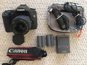 Canon EOS 50D with Canon EFS 18-55mm lens and Extras