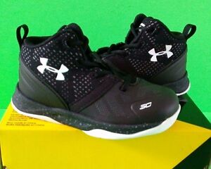Boys Size 5c7c UNDER ARMOUR UA B INF CURRY 2  1286153-001 Baby Shoes BLACK