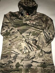 $59.99 Under Armour Ridge Reaper Barren Camo Coldgear Hoodie 1286119 Youth XL