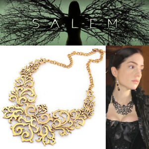 TV Show Salem Mary Sibley Metal Necklace Witch Jewelry Season 1 GOLD Gothic