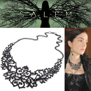TV Show Salem Mary Sibley Metal Necklace Witch Jewelry Season 1 BLACK Gothic