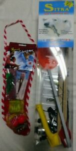 Sitka complete Ice Fishing kit combo tip up pole lures with BONUS  and FREE SHIP