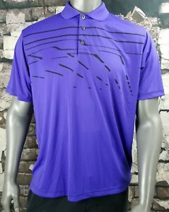 ADIDAS GOLF ADIZERO PURPLE DRY FIT POLO SHIRT MENS SIZE LARGE L