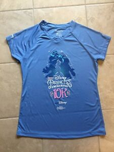 RunDisney Disney world 2017 Princess Enchanted 10k Race Shirt Women Medium