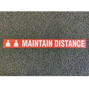 WTP115 Safety Message Sign Tape quot;MAINTAIN DISTANCEquot; 3 Inch x 54 Foot Roll