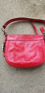 Coach Zoe Red Patent Leather Mini Handbag! Great Condition! #41869