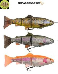 Savage Gear 4D Line Thru Trout 3 Sizes 3 Colours SS Pike Predator Fishing Lure