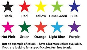 Star Vinyl Decal Stickers Lot Choose your size and color