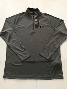 NEW UNDER ARMOUR MEN'S LS LOOSE HEAT GEAR PULL OVERTOP GRAY SZ LXL NWT