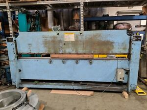 Roto-Die Model 10 Hydraulic Press Brake Bender 10' x 16 GA