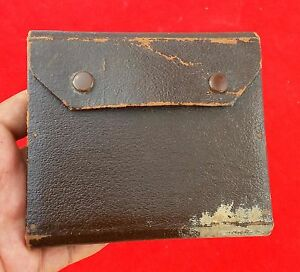 ANTIQUE WW1 ORIGINAL LEATHER HAND MADE CARTRIDGEBULLET HOLDING POUCH  CASE