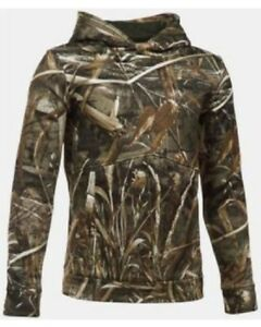 New Under Armour Storm 1 Mossy Oak Camo ColdGear Water Resistant Hoodie Youth L