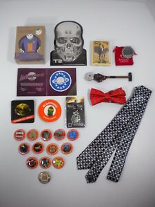 Huge Lot Of Miscellaneous Loot Crate Items - Pins Ties Patch Plus More!