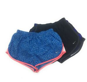 Nike Dri Fit Girls Athletic Shorts Size Small Black Gray Dry Tempo 2 Pairs - K