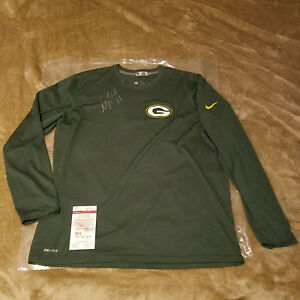 Davante Adams autographed signed Green Bay Packers Game Used Nike Dri Fit shirt