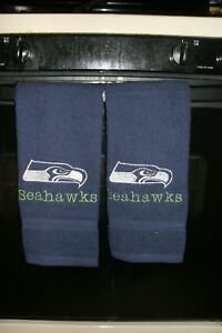 Seahawks Football Personalized Dish Kitchen Hand Towels ANY TEAM