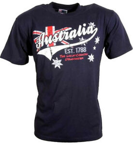 T Shirt Australia blue 1788 Australien Lucky Country Down Under EUR 19.99