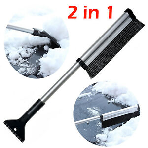Extendable Telescoping Car Windshield Ice Scraper Brush Auto Snow Removal Snow