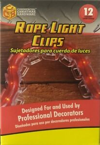 12 Adams Commercial Grade Rope Light Clips for Christmas Lights - 854710 - New