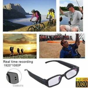 Mini HD 1080P Spy Camera Glasses Hidden Eyeglass DVR Video Recorder NVR Records