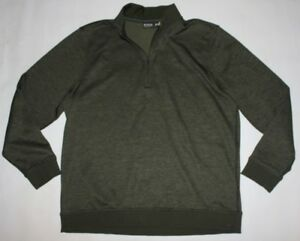 Under Armour Loose Fit  2XL Zip Pull Over Forrest Green Top Sweater