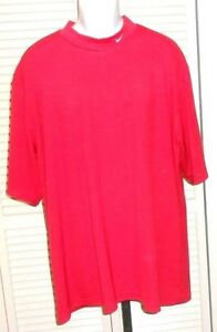 Nike Dry Fit Men's Red Short Sleeve Athletic Pullover Shirt Size 3XL