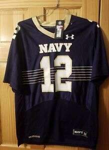 NAVY UNDER ARMOUR DONT GIVE UP THE SHIP OFFICIAL ON FIELD #12 JERSEY $44.99