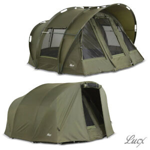 Lucx Fishing Tent + Cover Carp Tent 1 2 3 One Bivvy + Winterskin Leopard