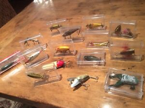 ANTIQUE VINTAGE HUGE LURE LOT FISHING PLUG CRAZY CRAWLER FROG FINE WOOD LURE HTF