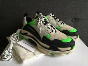 Balenciaga x Mr Porter Triple S Exclusive White  Black  Green Size EU 43 US 10