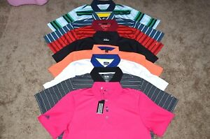 Lot of 8 Men's Nike GolfUnder ArmourAdidasRLX Ralph Lauren Polo Shirts Size M