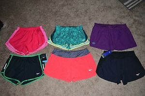 Lot of 6 Women's Nike Dri-FitUnder Armour Heat GearMizuno Shorts Size M