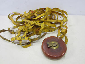 Antique Lufkin Leather Wrapped Wind up Tape Measure 25 Feet $22.49