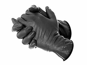 Dynarex Black Tattoo Gloves Professional Disposable Latex Or Nitrile Powder Free