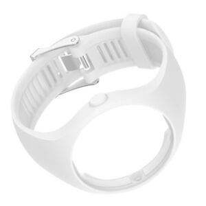 MagiDeal Silicone Wrist Band Strap & Chrome Clasp for Polar M200 Watch White