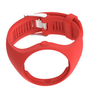 MagiDeal Silicone Wrist Band Strap & Chrome Clasp for Polar M200 Watch Red