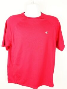 Champion Men's Double Dry Workout Fitness Short Sleeve Shirt Red Size Large