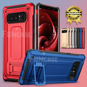For Samsung Galaxy Note 8 High Impact Rugged Shockproof Kick Stand Case Cover