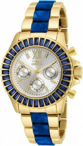Invicta 18871 Women's Angel Multi-Function Two-Tone Bracelet Silver-Tone Dial
